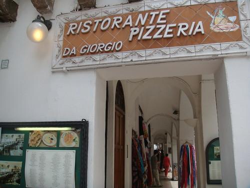 Entrada a la Pizzeria Da Giorgio - Capri
