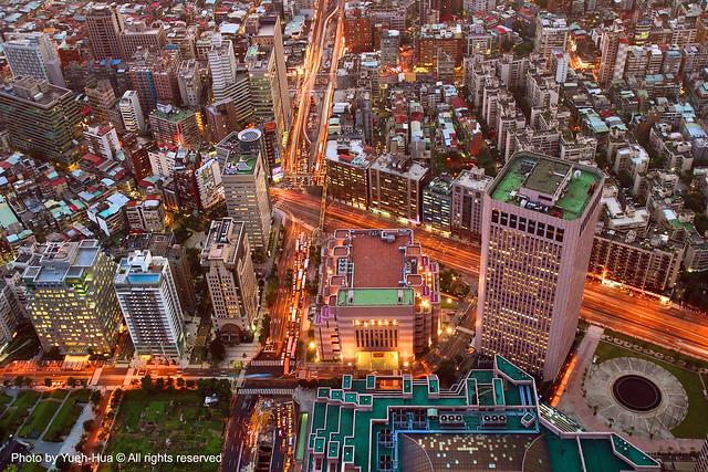 Taipei City │ from Taipei 101 Observatory Sep. 22, 2008