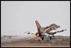 F-16I Burning. (NGPhoto.biz) Tags: israel aircraft aviation military f16 flame ng burner viper takeoff idf afterburner iaf ngp nehemia gershuni idfaf ngphoto ngphotography camofalge