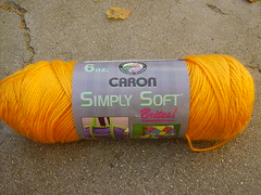 Simply Soft Yarn- Orange