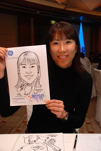 Caricature live sketching for GE Healthcare MI Symposium 12