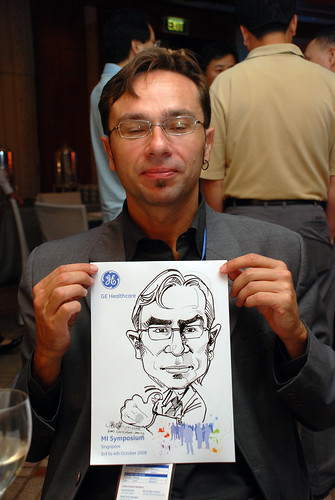 Caricature live sketching for GE Healthcare MI Symposium 7