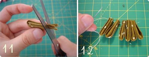 Como dobrar kanzashi 6