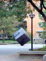 We are Borg.  Resistance is futile! (Non Paratus) Tags: sculpture art metal borg annarbor 1968 scupture universityofmichigan endover tonyrosenthal borgcube canonpowershota570