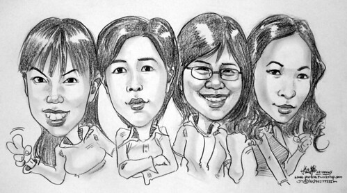 Group caricature in pencils 22102005