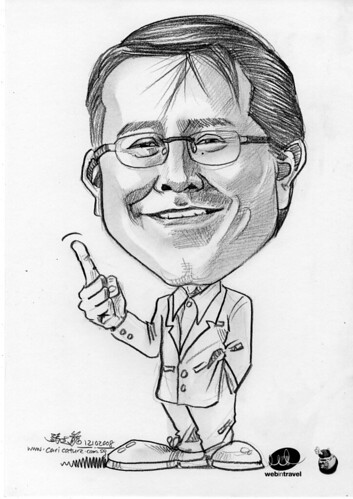 Caricatures Web in Travel 2008 Kenny Boyle