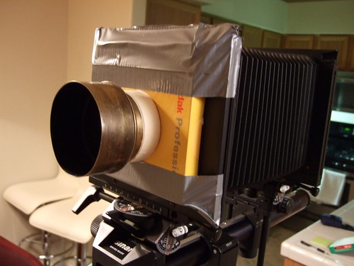 Old Magic Lantern Petzval lens with Gaffe tape