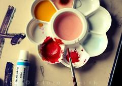 Tue les couleurs (Clara Zamith) Tags: pink school red orange color art ink canon rouge rebel design interesting warm paint brush explore louise photograph gouache couleur cian tga tue guache attaque explored xti 400d colourlicious god clarazamith