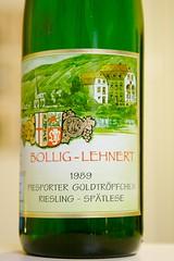 1989 Bollig-Lehnert Piesporter Goldtröpfchen Riesling Spätlese