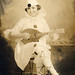 Edwardian child dressed as a pierrot by lovedaylemon