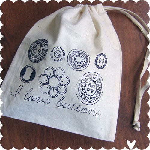Misprint Button Bags