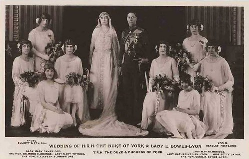 Wedding of Prince Albert with Lady Elizaveth Bowes-Lyon