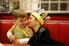 big brother telling little brother a secret - ...