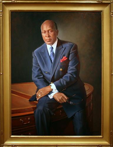 Vernon E. Jordan Jr., 2005 by Bradley Stevens, Oil on Linen