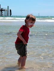 Glenelg Beach (KimberleyMcG) Tags: ocean beach water waves jetty scout adelaide glenelg