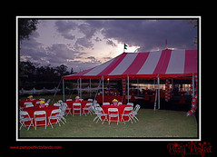 Carnival tent, Carnival Party (Party Perfect Orlando) Tags: carnival balloons redandwhite carnivalparty carnivaltent