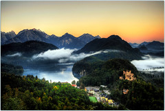 Beauty Never Fades (Extra Medium) Tags: lake mountains alps castle fog germany austria neuschwanstein hohenschwangaucastle