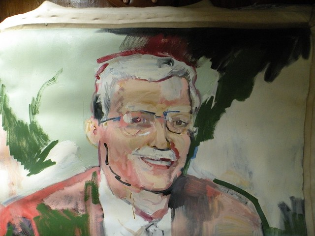 this is a painting I did of my father in the 80s