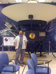 Chris with Voyager 1 mockup