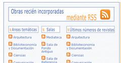 Sindicación de novedades en el catalogo de la Universidad de Navarra