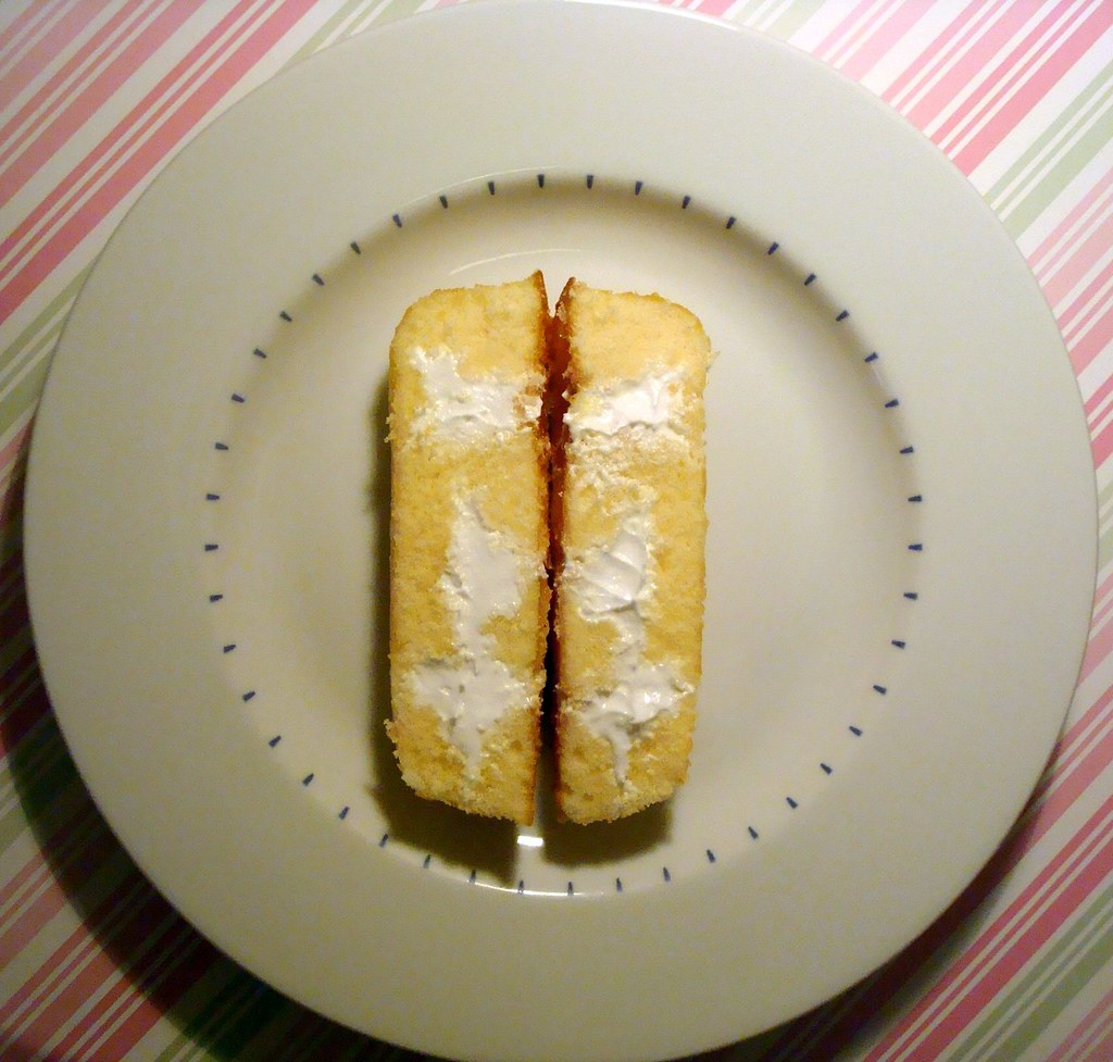 #23: Twinkie cut in half
