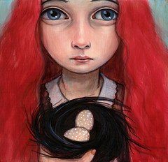 Speckled (verpabunny) Tags: pink girl painting hair acrylic eggs kellyvivanco infinitysquared