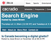 Search Engine | CBC Radio | Is Canada becoming a digital ghetto