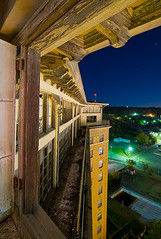 Birds-Eye (Noel Kerns) Tags: abandoned night hotel texas baker wells mineral