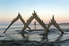 sunset sandcastle stroll (sandcastlematt) Tags: sunset sculpture castle beach sand massachusetts drip sandcastle sandsculpture ipswich cranebeach cranesbeach bostonist dripcastle universalhub dripsculpture
