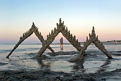 sunset sandcastle stroll (sandcastlematt) Tags: sunset sculpture castle beach sand massachusetts drip sandcastle sandsculpture ipswich cranebeach cranesbeach bostonist dripcastle universalhub dripsculpture