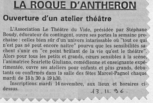 La Provence du 13 novembre 1996