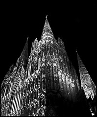 Lichfield Cathedral at night (sacred88uk) Tags: longexposure blackandwhite night cathedral nighttime lichfield slowshutterspeed