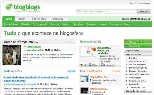 novo layout do BlogBlogs