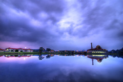 Darul Qur'an Mosque I - Serenity (Firdaus Mahadi) Tags: longexposure sunset sky lake reflection night clouds peaceful tranquility mosque serenity malaysia awan dq hdr highdynamicrange masjid malam selangor langit tasik bukhari uwa   jamek mesjid peacefully ultrawideangle  kualakububharu maghrib      3exposures   kkb     tokina1116mmf28 darulquran buyie masjiddarulquran masjiddq tasikhuffaz dqkkb firdausmahadi muktasyaf huffaz firdaus huffazlake longsexposures darulquranmosque annamir wwwfirdausmahadicom  dqmosque wwwdarulqurangovmy