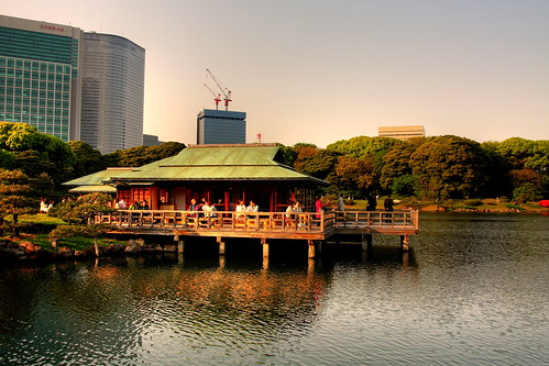 The Tea House at Hamarikyu Garden