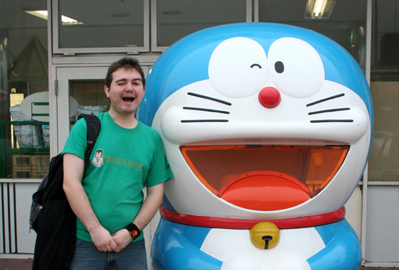 Me and my hero! on the roof of Hankyu department store