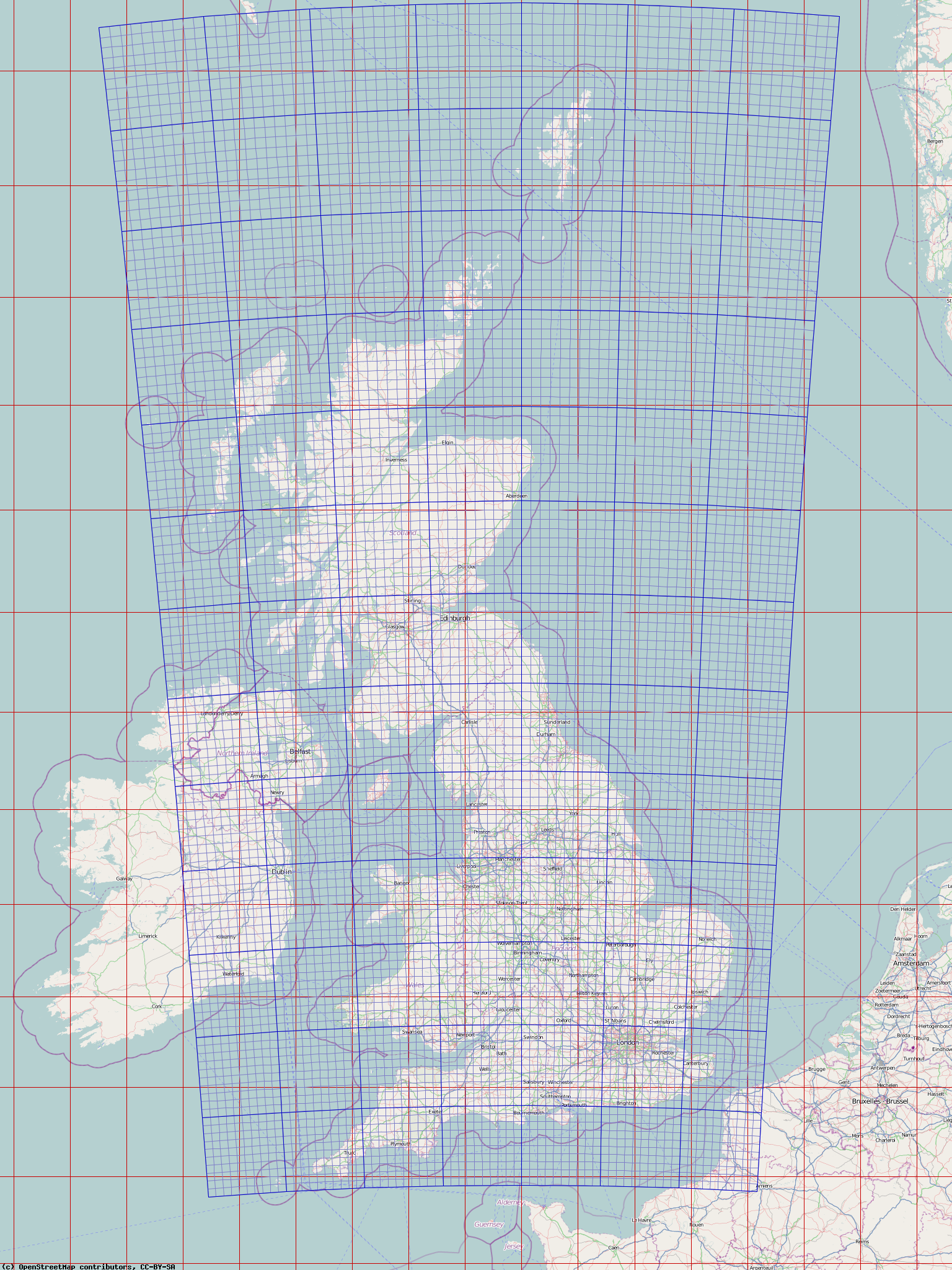 PHP And Ordnance Survey Mapping  Derick Rethans - Map with latitude and longitude parallel
