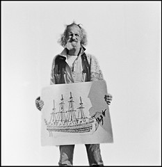 Dan Hicks, Known by all as Sailor Dan. (Chad Coombs) Tags: art dan photography photo chad fine photograph saskatoon sailor coombs hicks unscene unsceneart shotagainstthewallofthesamepetrocanadagasstationmentionedinarticle retiredmymamiyac22afterthisshot goingtoreshootthiswithmynewbronicaand75mmlens