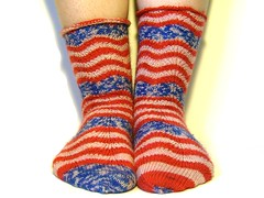 Tropicana, done! (lindseyyoung2000) Tags: socks projects wavinflag