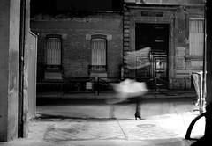 Misty woman (Martin Reivax) Tags: street door people bw woman paris girl walking shoes legs boots noiretblanc skirt nb sinatra