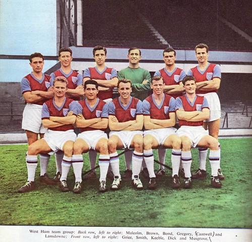West Ham team 1960