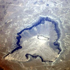 Kilbourne Hole (JoWiJo) Tags: travel newmexico ground aerial crater question southwestairlines maar topography kilbournehole