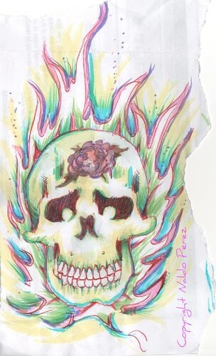 skull tattoo sketch