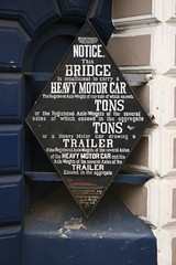 Notice outside Blackheath Station (John.P.) Tags: old uk london sign blackheath notice railway limit weight southeasternchatham