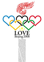 Love Beijing 2008 Poster (*mike7.net) Tags: china love poster fire heart beijing torch 2008 a2 oneworldonedream 5ring