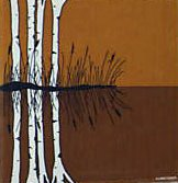 Marushka - reflection of birch trees