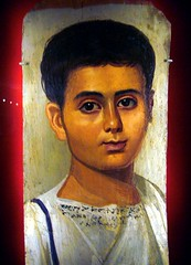 Fayum (or Fayoum) mummy portrait of the boy Eutyches (ggnyc) Tags: nyc newyorkcity boy portrait museum youth painting greek child manhattan egypt egyptian expressive mummy met encaustic funerary metropolitanmuseumofart ancientegypt egyptianart tunic grecoroman fayum fayoum mummyportrait romanperiod fayumportrait eutyches fayoumportrait
