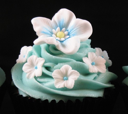 Fondant Flowers on Black
