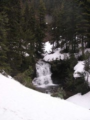 Waterfall on DeRoux Creek below creek crossing