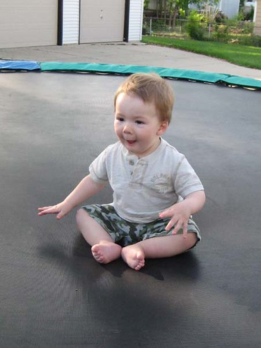 Will on the trampoline